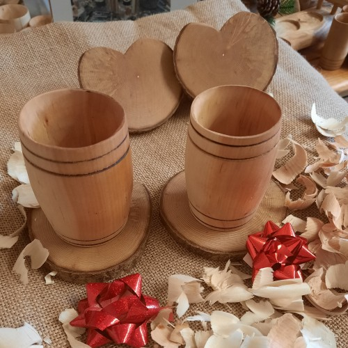 Couples tumbler barrel set in willow