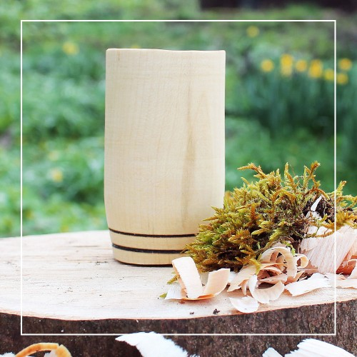 Handcrafted Sycamore 2 Hoop Whisky Tumbler