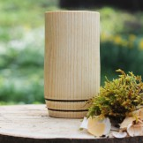 Handcrafted Ash 2 Hoop Whisky Tumbler