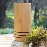 Handcrafted Alder 3 Hoop Whisky Tumbler
