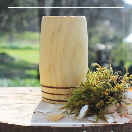 Handcrafted Ash 3 Hoop Whisky Tumbler