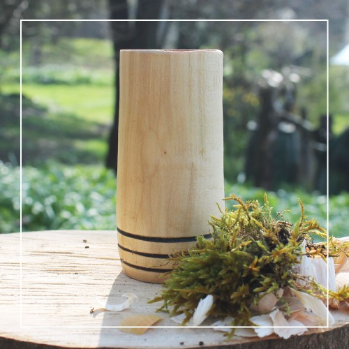 Handcrafted Sycamore 3 Hoop Whisky Tumbler