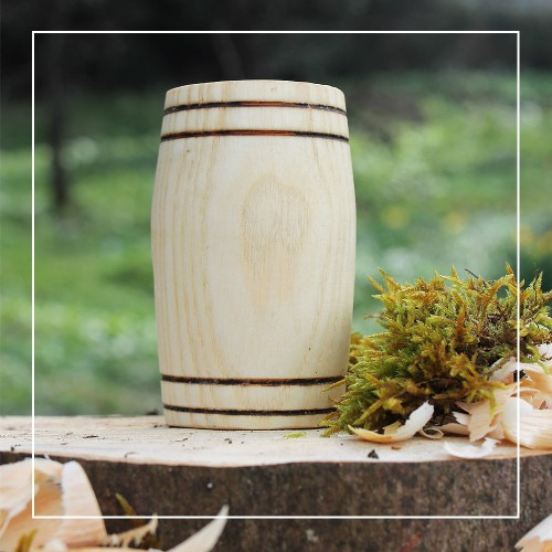 Handcrafted Ash Barrel Whisky Tumbler