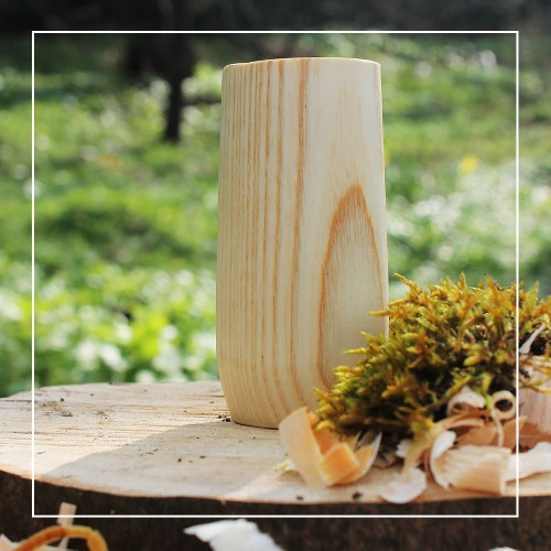 Handcrafted Ash Natural Whisky Tumbler
